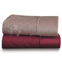Valeron Rene bordo - set cuvertura de pat de lux din bumbac Pima