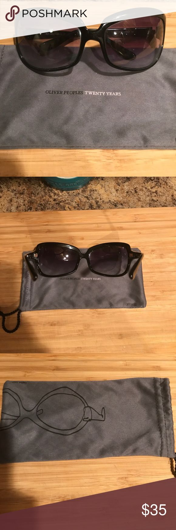 Oliver Peoples sunglasses Maybe worn twice, great condition. Comes with sunglasses bag. Oliver Peoples Accessories Sunglasses