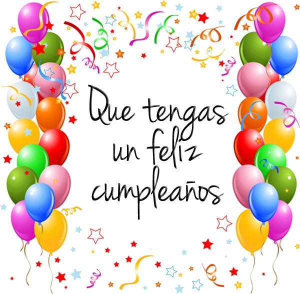 Feliz Cumpleaños FELICITACIONES ANIVERSARIOS Pinterest