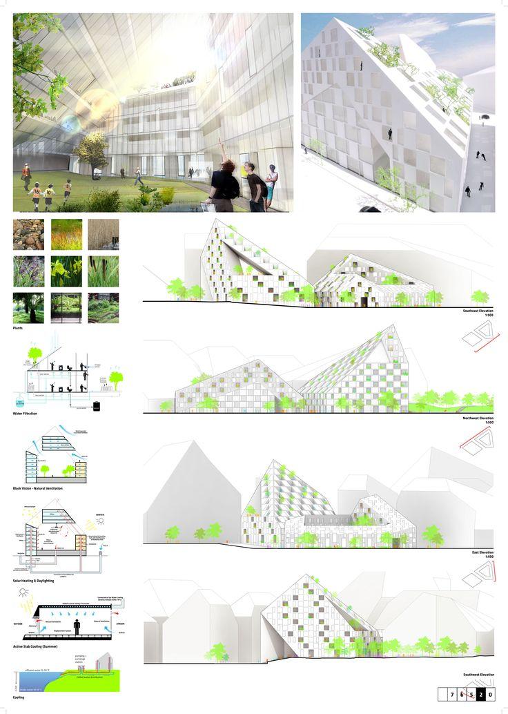 architecture presentation boards steel competition - Google Search