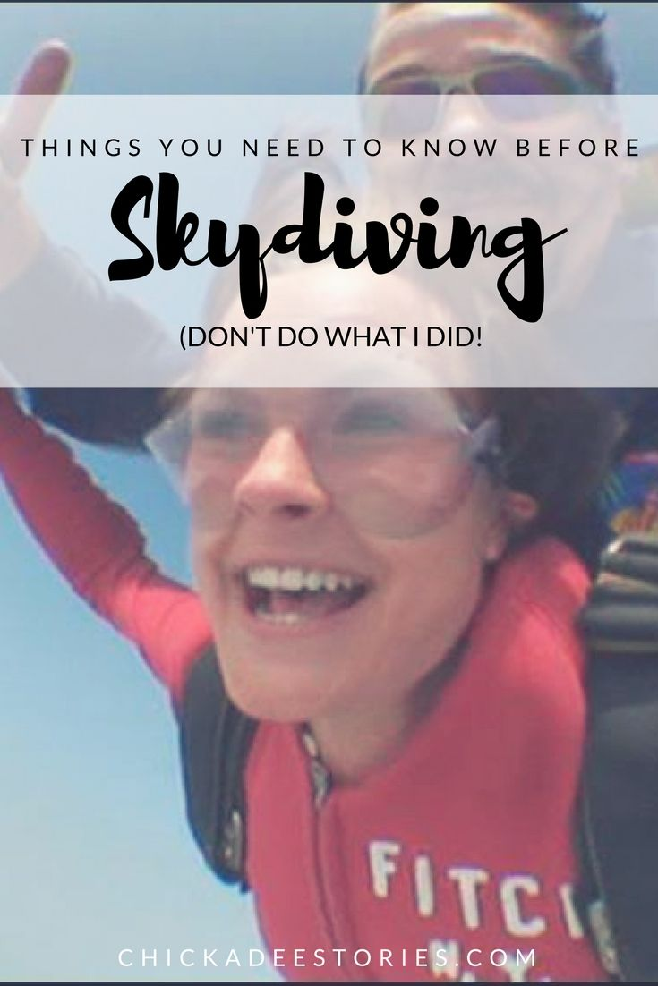 What do you need to know before you take the leap (out of a plane!)? And what SHOULDN'T you do on your first tandem skydive?
