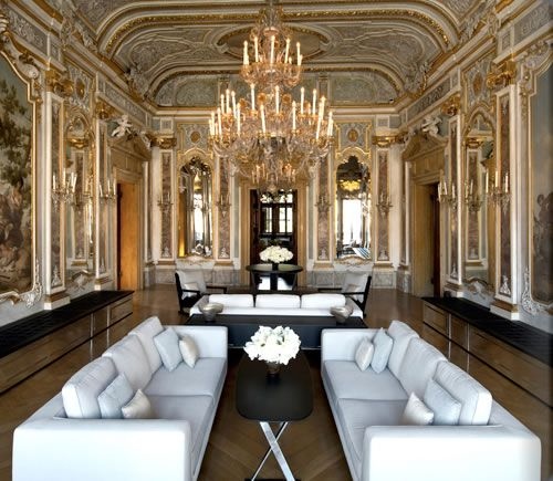 Piano nobile lounge aman canal grande venice favorite for Design hotel venise