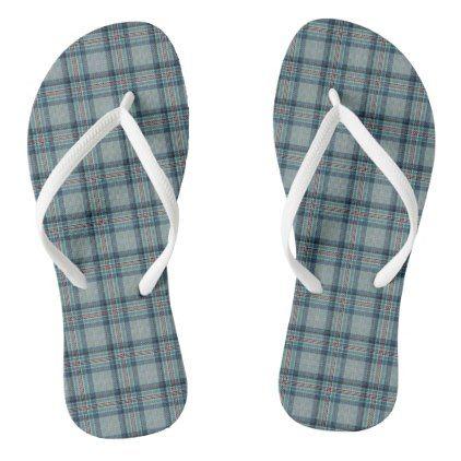 Princess Diana Memorial Tartan Flip Flops - blue gifts style giftidea diy cyo