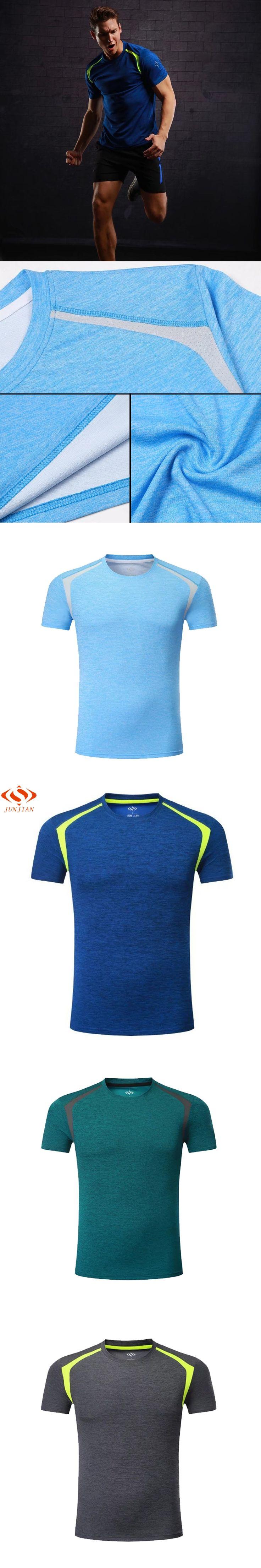 2017 Short Sleeve Survetement Men's Sport Running Shirt Quick Dry Basketball Soccer Training T Shirt Men Gym Clothing Sportswear