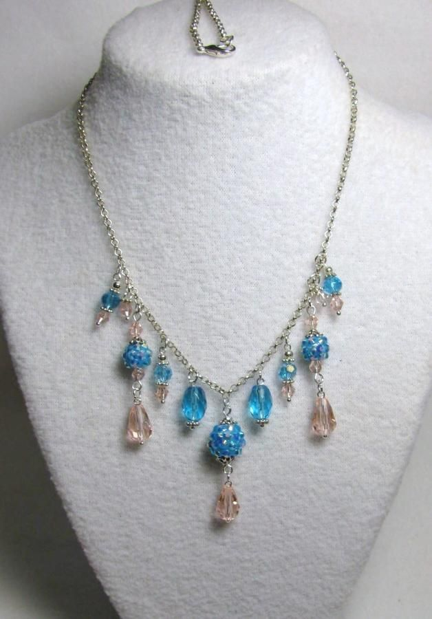 Ocean Blue Splender - Jewelry creation by Linda Foust