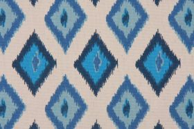 Fabric by the Yard :: Premier Prints Carnival Cotton Drapery Fabric in Arctic Blue/Natural $7.48 per yard - Fabric Guru.com: Fabric, Discoun...