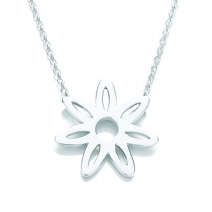 Riviera SIlver cut out pendant - RIV-N8030 - Daisy Necklace... - Ladies Jewelleryhttp://www.watchandjewellery.co.uk/ladies-jewellery/daisy-necklace/riviera-silver-cut-out-pendant.html