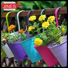2 pçs/lote Metal ferro vaso de flores varanda planta plantador Home Decor cestos jardim suprimentos grátis frete(China (Mainland))