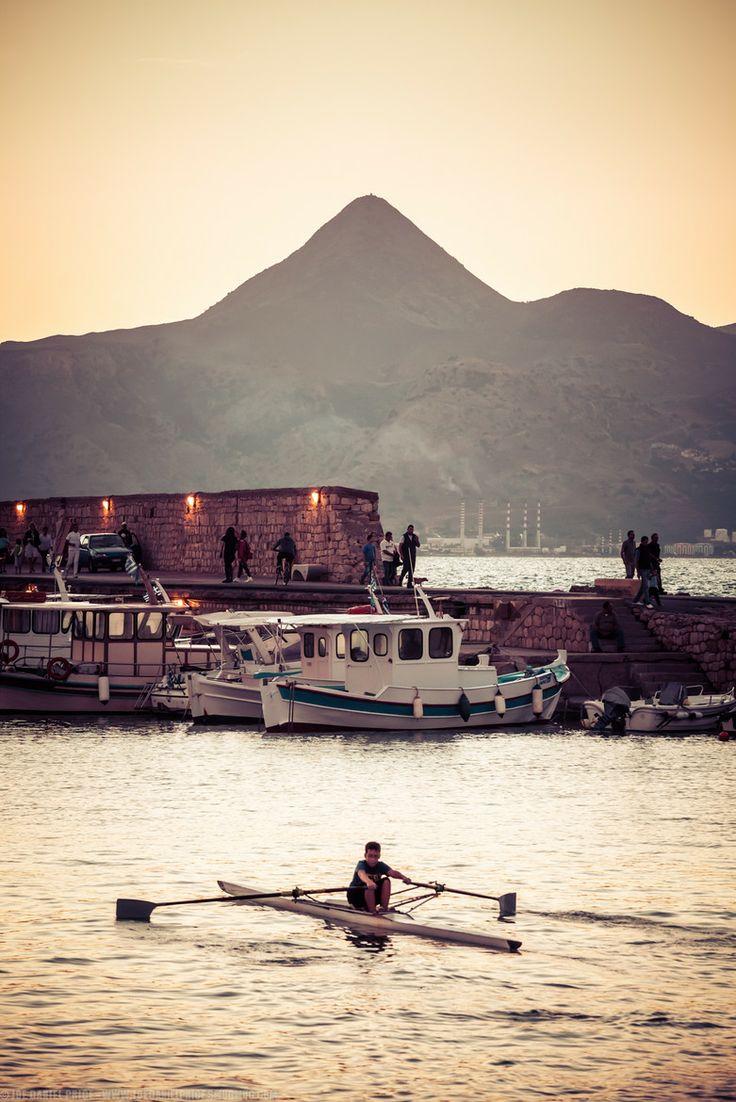 Morning in Heraklio Port, Crete