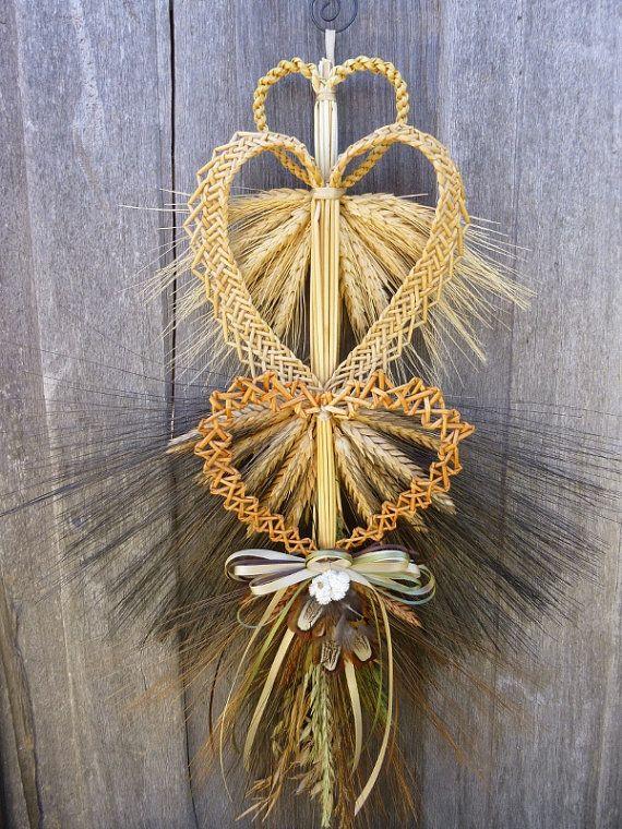 Handmade Wheat Weaving Hearts Love Knots by WoodsorrelDixie