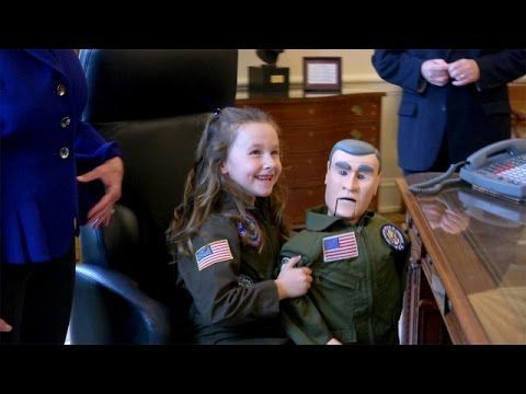 Macey Meets President Bush
