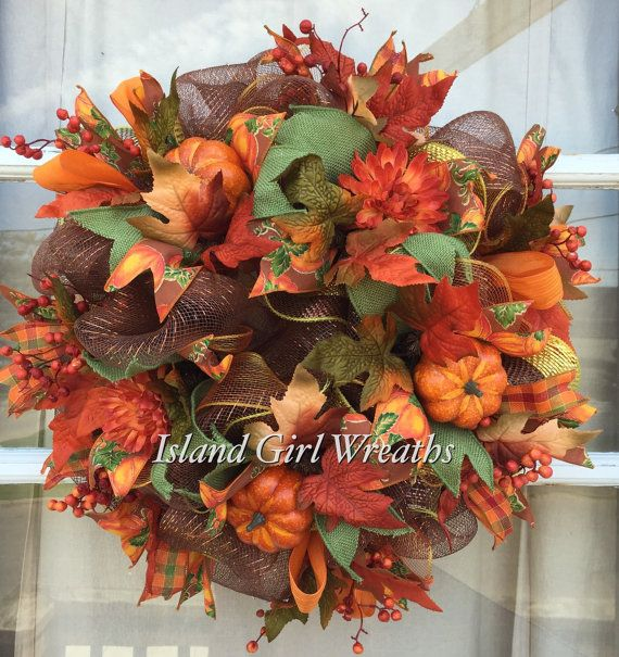 Hey, I found this really awesome Etsy listing at https://www.etsy.com/listing/240868590/fall-deco-mesh-wreath-autumn-deco-mesh