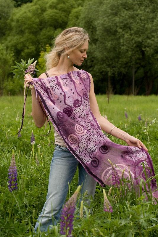 Merino Wool Silk gauze by Eya Ozerova