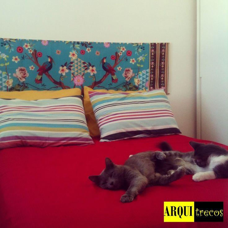blog de decoração - Arquitrecos: Minha cabeceira de cama em tecido by Juliana Curi