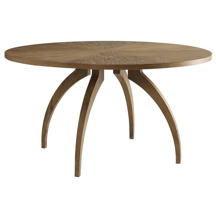 Brownstone Atherton Round Dining Table Cerused Teak @Zinc_Door