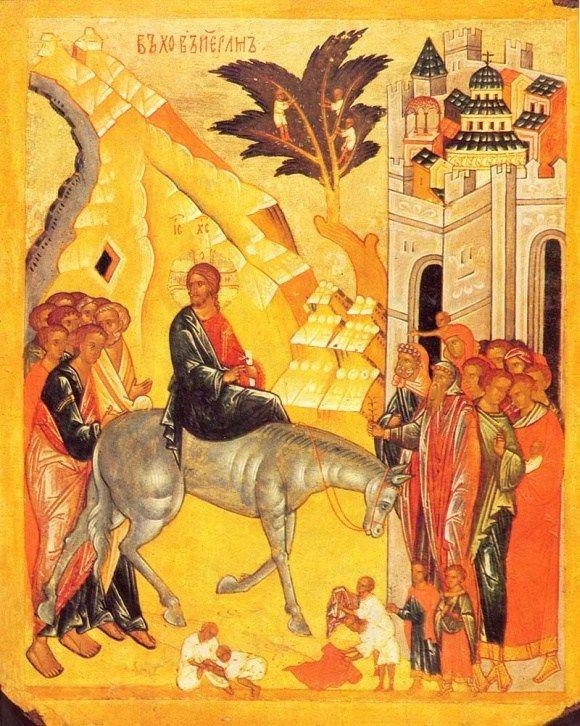 Icona - Entrata a Gerusalemme