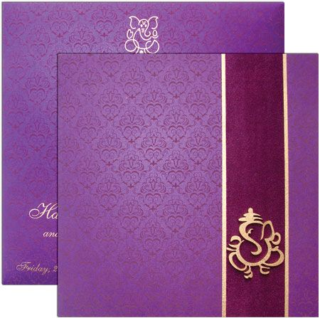 Indian Wedding Card Idea- love the design, colors can be changed