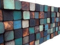 Wood Wall Art Reclaimed Wood Wall Sculpture van WallWooden op Etsy