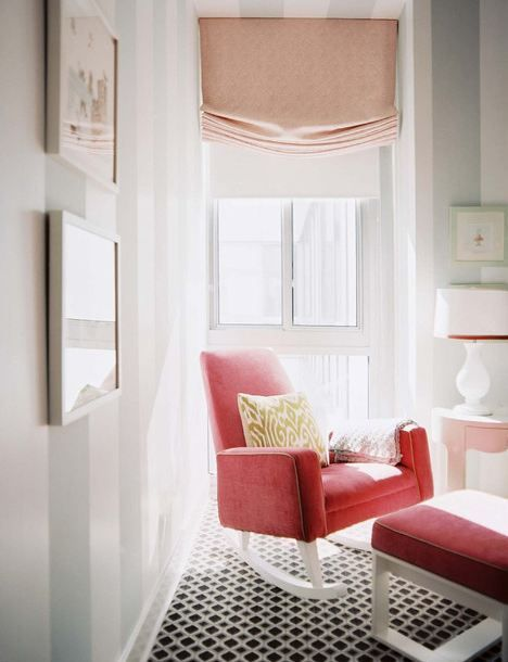 lovely mix of geometric patterns and colors. Design by Sara Gibane Interiors