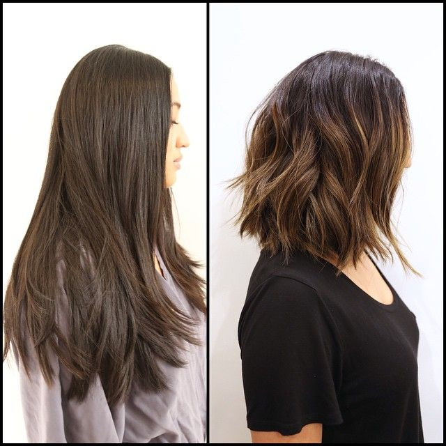 """Soft Undercut is great for thick hair. Remove weight & create movement. Color: @mizzchoi"""