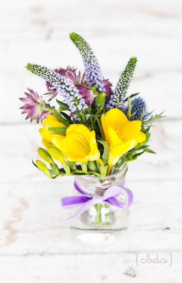 Mini ramo  Tarros con flores