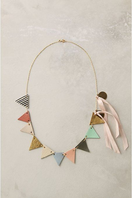 triangleIdeas, Anthropology, Style, Fine Fete, Jewelry, Accessories, Diy, Buntings Necklaces, Crafts