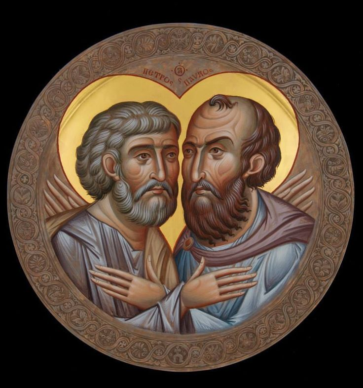икона Петра и Павла Иконописная мастераская Ikonique