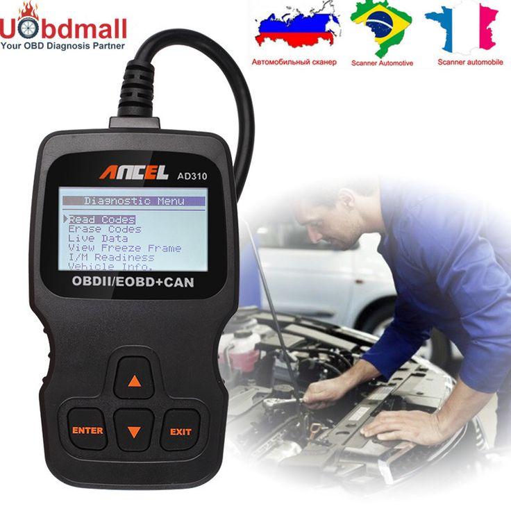 3 צבעים לבחור אוניברסלי מנוע לבדוק AD310 אנצ 'ל AD310 קורא קוד אוטומטי כלי אבחון סורק רכב טוב יותר מאשר ELM327