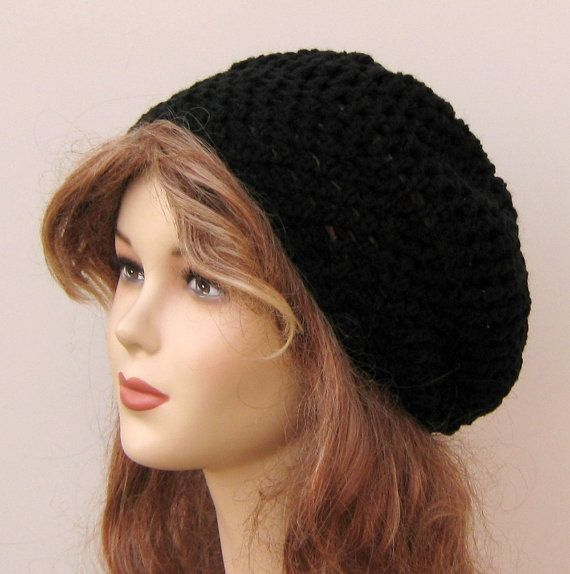 Slightly slouchy Bohemian hippie tam beanie by PurpleSageDesignz, $15.00