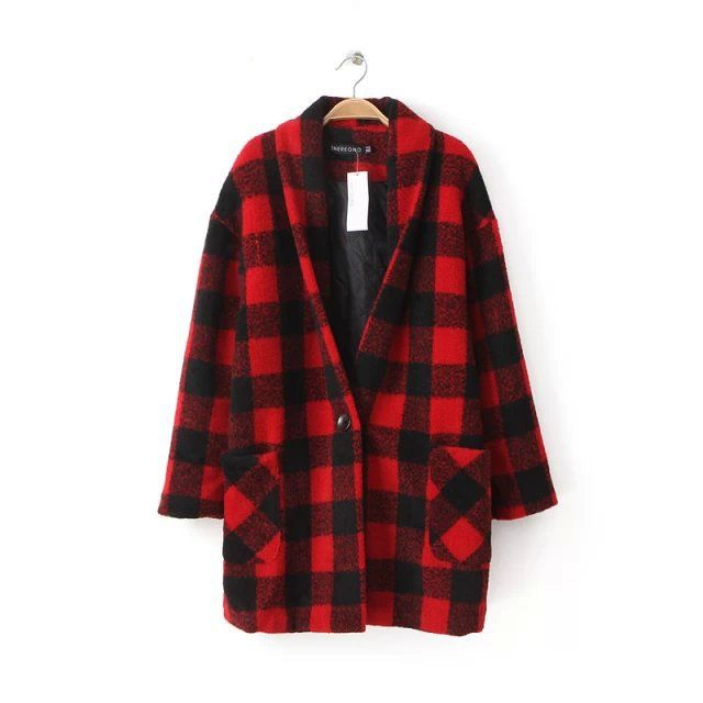 Find More Wool & Blends Information about E1024L3 Korean new lapel long sleeve retro Plaid print wool coat women's sweater,High Quality sweater types,China sweater Suppliers, Cheap sweater brand from Guangzhou vicky hair products co., LTD  on Aliexpress.com