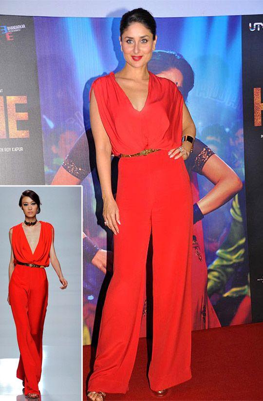 Kareena Kapoor In Emanuel Ungaro – 'Heroine' Photocall, 2012
