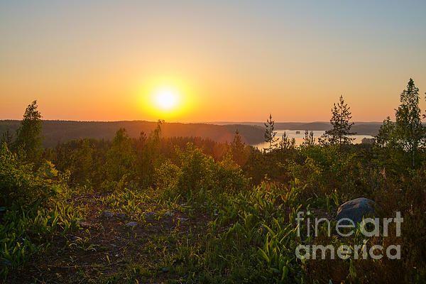 Sunset at the Lake Hiidenvesi - Ismo Raisanen #art #fineartphotography #photog #deals #ismoraisanen