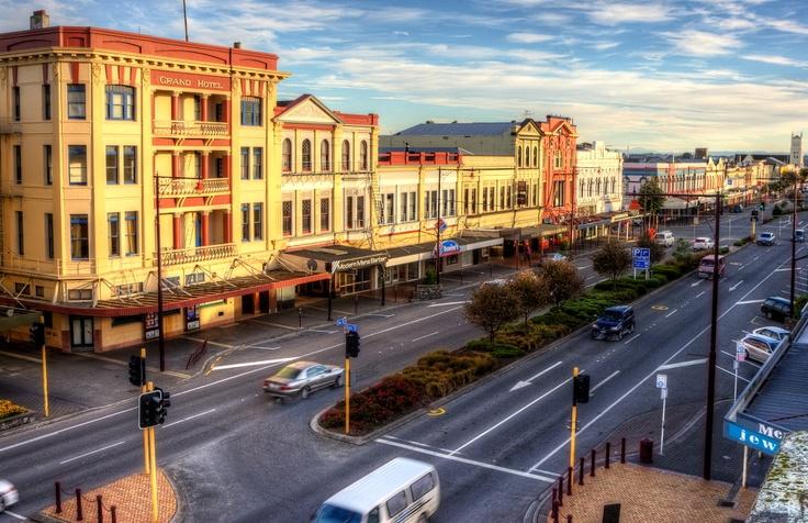 Beautiful architecture in Invercargill, New Zealand.