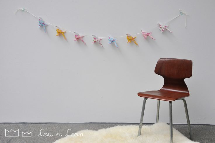 Great Origami Garland with japanese papers! Handmade by Lou et Leon!