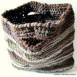 Borsa NYLON, fatta a mano crochet uncinetto - spese spedizione GRATIS