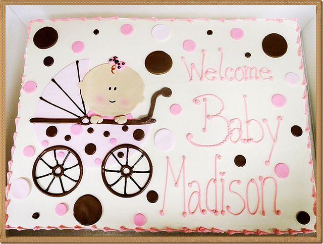Baby Shower Sheet Cakes for Girls | photo