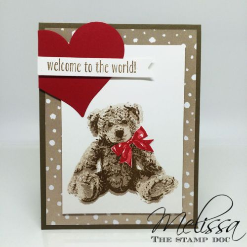 Stampin' UP! Baby Bear by Melissa Stout