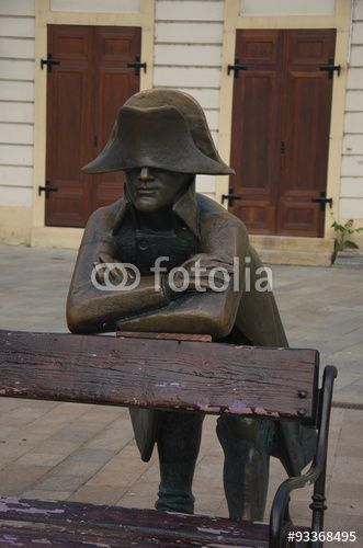 """Download the royalty-free photo """"Bronze statue of Napoleon's Army Soldier, Bratislava"""" created by Ciaobucarest at the lowest price on Fotolia.com. Browse our cheap image bank online to find the perfect stock photo for your marketing projects!"""