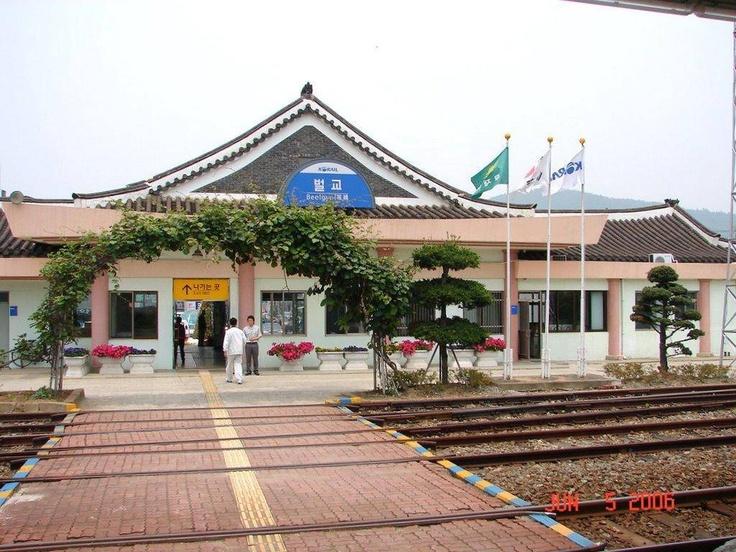 Beolgyo train station near Goheung, Korea