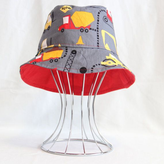 Reversible Childs Bucket Hat  Cone Zone by OneCrazyMumma on Etsy