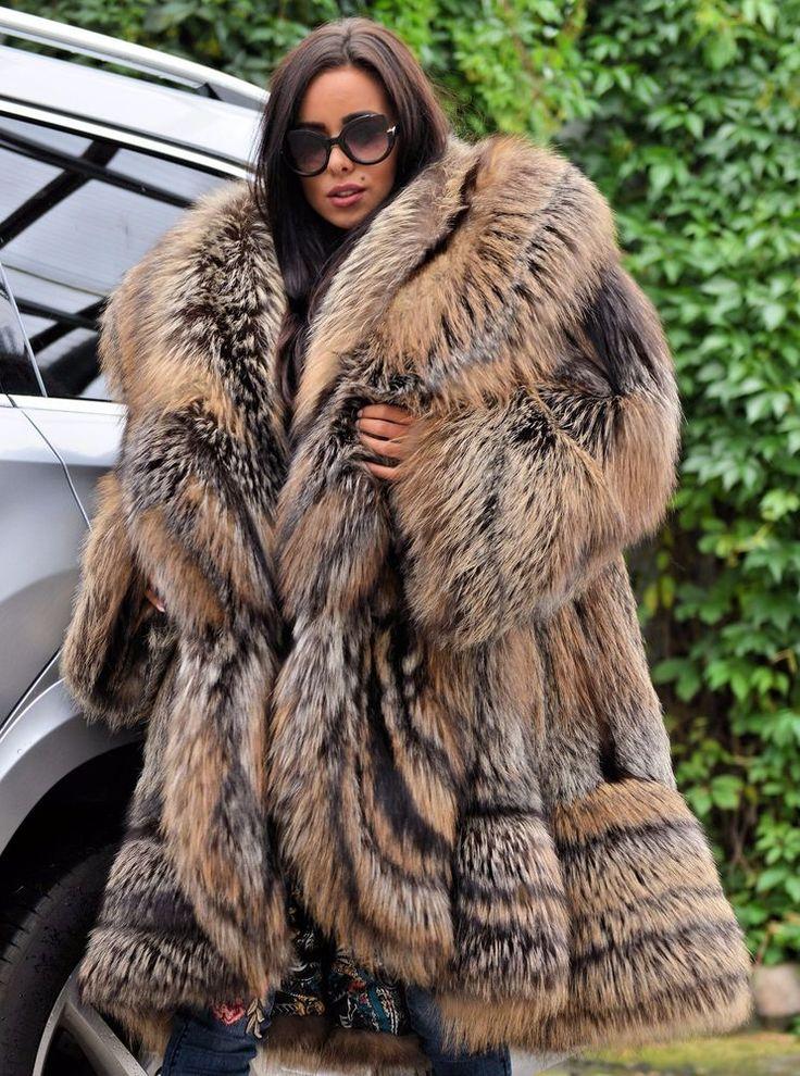 ROYAL FOX FUR SWINGER COAT CLASS CHINCHILLA SABLE MINK SILVER LONG JACKET PONCHO | Clothes, Shoes & Accessories, Women's Clothing, Coats & Jackets | eBay!