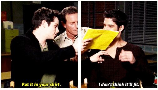 """That time there were sadly no dollar bills to be thrown.   22 Times The """"Teen Wolf"""" Cast Was Too Adorable For Words"""