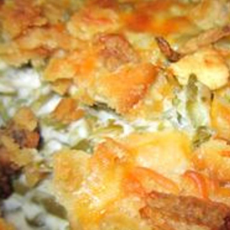 Beyond Yummy Green Bean Casserole...must try, no cream of anything in here!