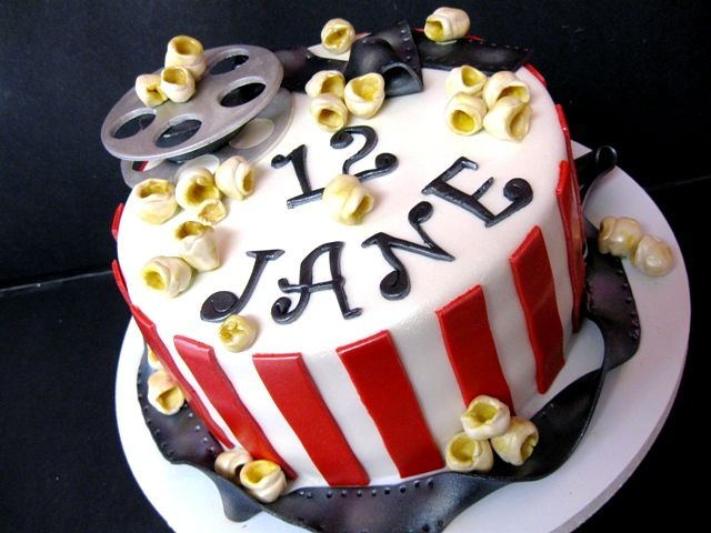 Movie Ticket Themed Birthday Cakes | Movie Themed Birthday Cake - Country Girl Cakes