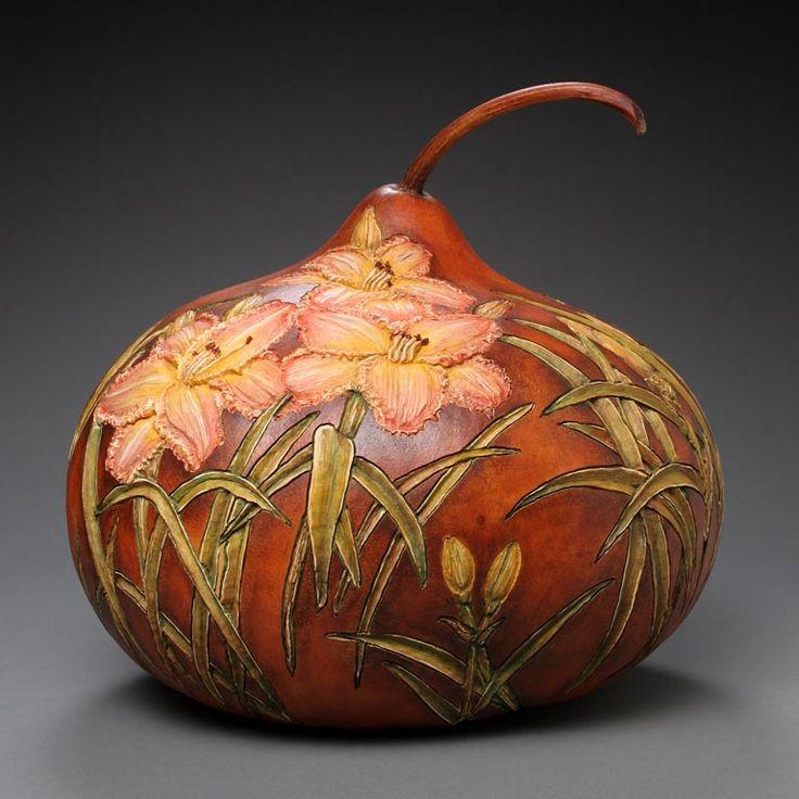 gourd art | Hand Carved Gourd Gallery - Marilyn Sunderland Gourd Art