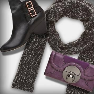 Lavenza Ankle Boot – $299.00  Stand Off Wallet – $229.00  Beatrix Scarf – $69.95  #mimco