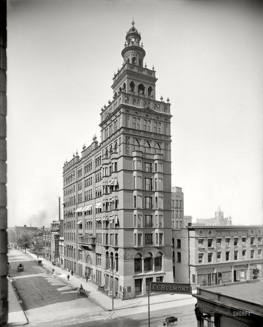 "Toledo, Ohio, circa 1905. ""Nasby Building."""