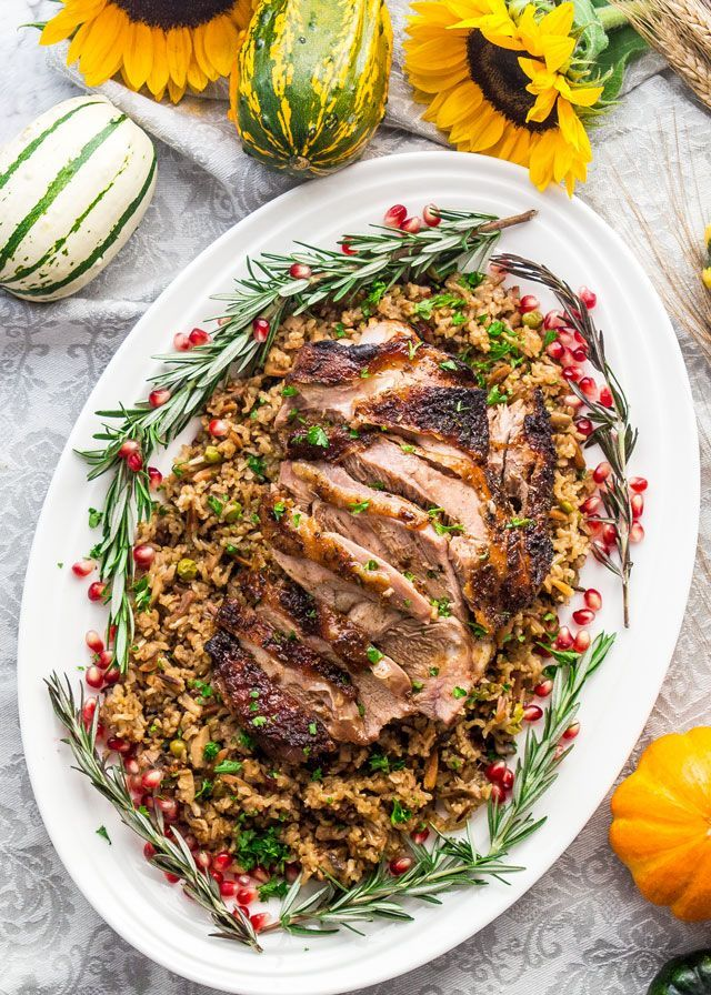These Maple Mustard Roasted Turkey Thighs are super juicy, delicious and a great alternative for roasting a whole turkey.