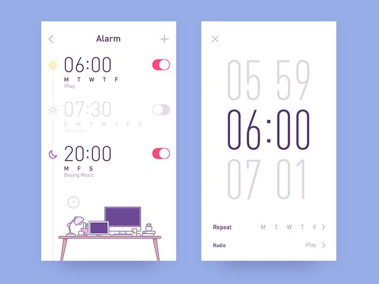 app-radio clock by Rwds #Design Popular #Dribbble #shots