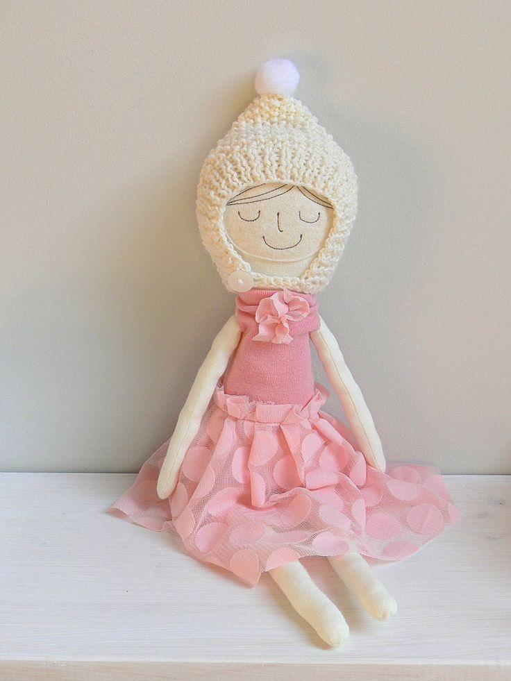 Rag doll, Cloth Doll, Dress up doll- CARLA by MiniwerkaToys on Etsy